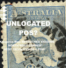 "6d Kangaroo Blue RETOUCHED SHADING NORTH WEST CORNER"" ACSC 19(U)g CV$150 @ POS?"