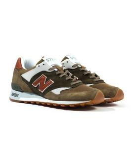 New Balance Made In England M577 Green & Brown Suede Trainers