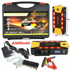 82800mAh 4USB Car Jump Starter Emergency Charger Booster Power Bank Battery SOS