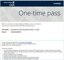 TWO United Airlines UA Club One-Time Pass E-Delivery  (Expires March 13 2021)