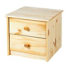 Two Drawers Bedside Night Stand Pine Flat Pack