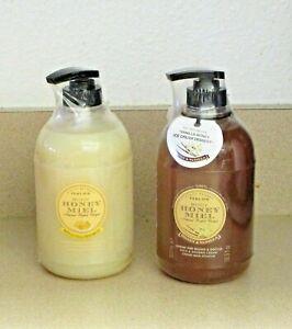 Perlier Honey Vanilla & Creme Brulee Bath Shower Creams HUGE 16.9 Oz New