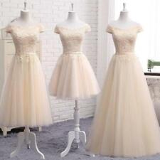 Women Dress Formal Evening Party Prom Ball Gowns Lace Wedding Bridesmaid Dresses