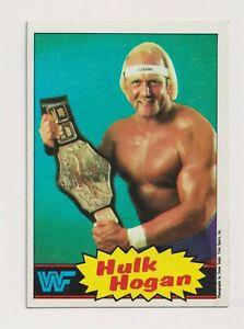 HULK HOGAN 1985 TOPPS WWF WWE ROOKIE BASE CARD #16 PRO WRESTLING STARS L@@K RARE