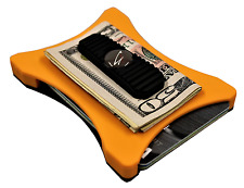 """Black on Orange"" Military Grade front pocket wallet. by Bench Built"