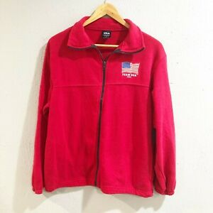 Team USA 2015 Olympic Red Long Sleeve Full Zip Sweater Jacket Mens M