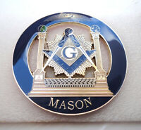 ZP32 Masonic Masons LARGE badge with G Geometry Freemason Square Compass Tools