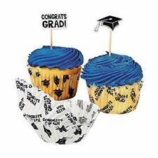 Fun Express Congrats Graduation Cupcake Liners and Picks - 100 Pack