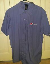 Pepsi Button Up Men's Work Shirt Uniform  XL Short Sleeve  Aramark