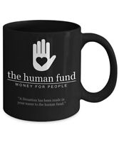 The Human Fund Mug - Seinfeld Mug (Black) - Coffee Mug