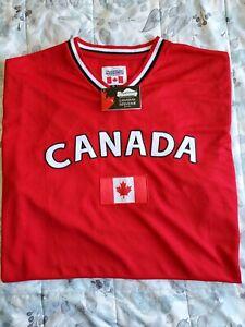Snowcap Embroidered Canada Maple Leaf Hockey Jersey Shirt  SZ 2XL
