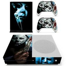 Xbox one S Slim Console Skin Michael Myers Halloween Horror Vinyl Stickers Decal