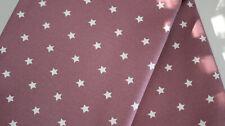 wasserfest 25 x 1,60 Sterne auf altrosa Beschichtet Baumwolle abwaschbar
