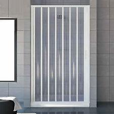 Box doccia porta soffietto riducibile in acrilico da 120-130cm apertura laterale