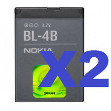 2x Nokia BL-4B OEM Battery 2660 2605 2760 6111 7500 7373 2600 Mirage 7510 N76