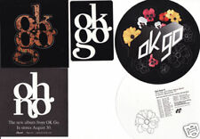 Ok Go Get Over It/Oh No 3 Promo Stickers/3 Styles for cd Damian Kulash Andy Ross