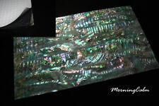 Green Abalone Shell Enhanced Adhesive Veneer Sheet (MOP Nacre Luthier)