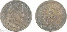 Louis Philippe Ier, 1/4 de franc, 1840, A = Paris, argent - 5