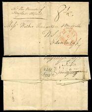 SCOTLAND LANARK 1822 LETTER BOXED MILEAGE
