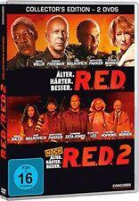 2 DVDs * R.E.D. 1 + RED 2 - ( NOCH ) ÄLTER. HÄRTER. BESSER. BOX # NEU OVP $