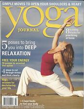 Yoga Journal magazine Deep relaxation poses Energy Home practice Best body foods