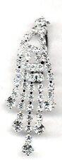 Belly Button Ring Navel Rhinestone Reverse Body Jewelry Dangle 14 Gauge
