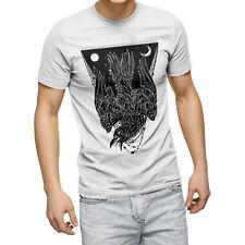 Dark Cuervo Horror Camiseta Punk Gótico Emo de pájaro de mal Hipster Hombre Camiseta Top Para Hombre