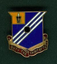 76th ARTILLERY, DI, DUI, UNIT CREST, CLUTCH BACK, HM SHERMAN MFG. CO.