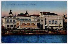 Cannes, Riviera, France vintage Sauvaigo Postcard CPA - Le Casino Municipal