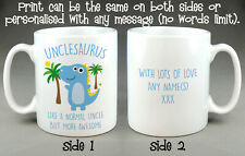 Unclesaurus Mug - FATHER'S DAY BIRTHDAY GIFT Dinosaur Uncle Funny