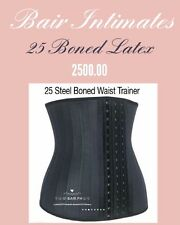 Latest Waist Trainer: Black Latex 25  Steel Boned Body Shaper