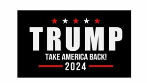 "Donald Trump 2024 Take America Back CAR Magnet, Fridge or Car LARGE (6"" x 4"")"