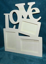 """CUTE UNFINISHED WOOD """"LOVE"""" PICTURE PHOTO FRAME!! CRAFTS"""