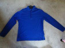 Hugo Boss Men Large Blue Pima Cotton Jersey Long Sleeve Shirt/Top Regular Fit
