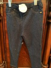 Mudpie Baby glitter denim leggings medium 24months-2T/3T
