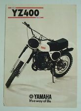 YAMAHA YZ400 MOTORCYCLE Sales Brochure 1977 #LIT-3MC-0105008-77E