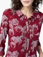 NEW EX WHITE STUFF UK 6 8 10  RED HEDGEROW JERSEY BLOUSE TOP
