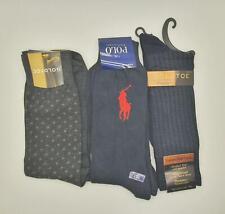 New Men's Ralph Lauren & Gold Toe Dress Socks 3 Pairs Premium Luxury Size 6-12.5