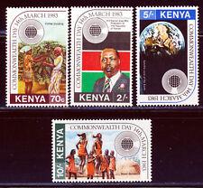 KENYA 1983 COMMONWEALTH DAY SET SCOTT 243-46