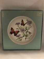 Lenox Collector Plates Butterflies & Flowers 1st Plate in Series W/ Box-(6)