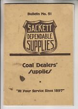 1917 CATALOG - H.B SACKETT SCREEN & CHUTE CO - COAL DEALERS' SUPPLIES