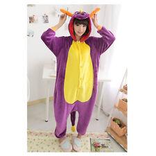 Expédié de Paris - Kigurumi Cosplay Pyjama Combinaison Spyro Adulte S à XL