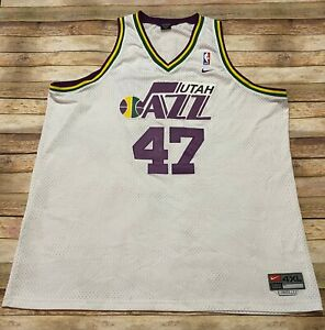 Nike UTAH JAZZ Jersey ANDREI KIRILENKO 2001-10 Authentic Swingman White NBA 4XL