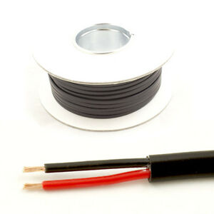 *11 AMP Rated* 0.5mm2 Thin Wall 2 Twin Core Cable Wire Car LED Lights (30M Roll)
