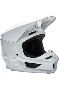 Fox Racing V1 Helmet - MX Motocross Dirt Bike Off-Road ATV Gloss White Adult
