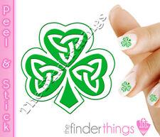 St. Patrick's Day Shamrock Four Leaf Clover Nail Art Decal Sticker Set SHM101