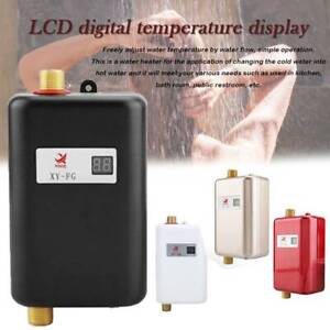 Electric Tankless Instant Hot Water Heater Under Sink Tap Kitchen Tool 3KW