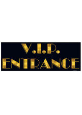 Hollywood Party VIP Entrance Cut Out Sign
