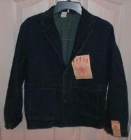 FARAH Vintage Workwear Denim Jean Button Front BLAZER JACKET Women's Size 14 NWT