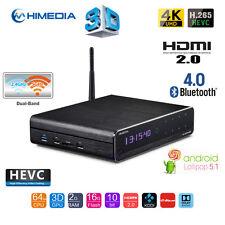 HiMedia Q10 Pro Quad Core 4K UHD HEVC H.265 Android TV Box Media Streamer HDD PC